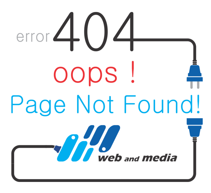 Error 404 Page Not Found (web and media)