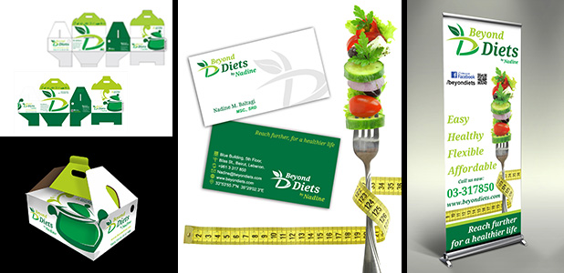 Beyond Diets Corporate Identity Design, Beirut, Lebanon)